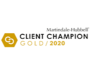 Martindale-Hubbell Client Champion Gold 2020